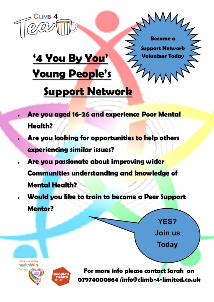 Volunteer 4 you By You support Mentor Poster