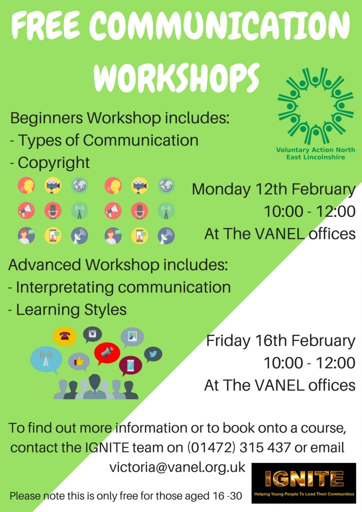 IGNITE Communications Training - advanced @ VANEL Grimsby