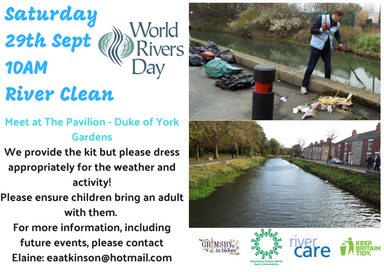 World Rivers Day river clean event at the Duke of York Gardens
