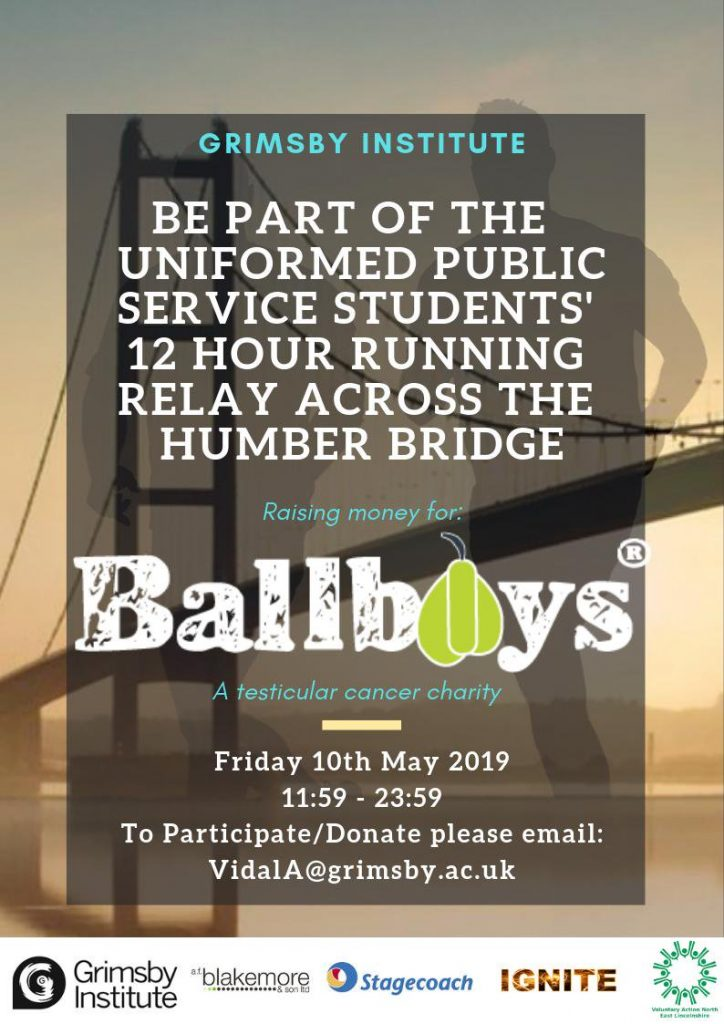 Ballboys running 12 hour relay over Humber Bridge to raise money @ Humber Bridge