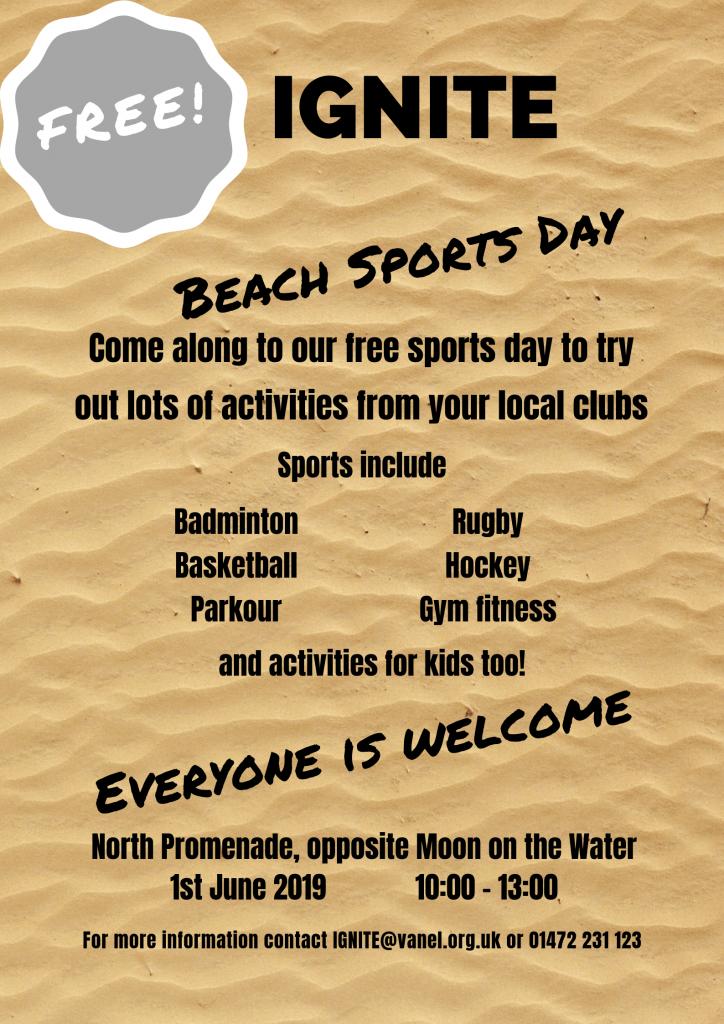 Beach Sports Day in Cleethorpes @ Cleethorpes North Beach