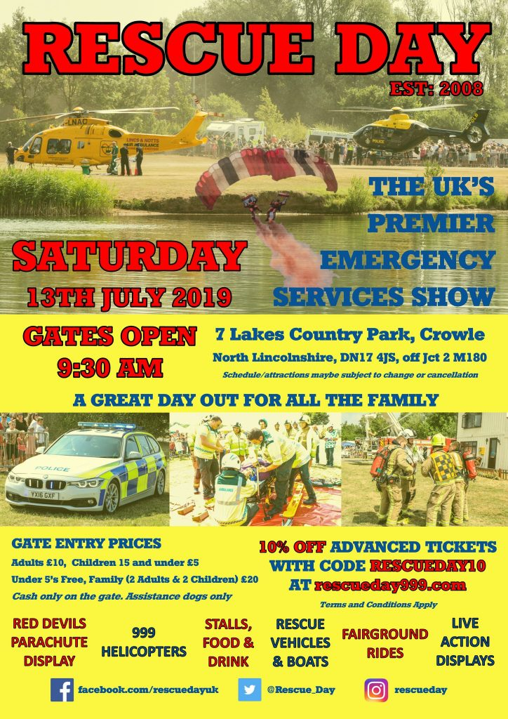 Rescue Day 2019 in North Lincolnshire @ Crowle, North Lincolnshire