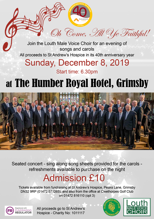 Louth Male Voice Choir concert in aid of St Andrews Hospice