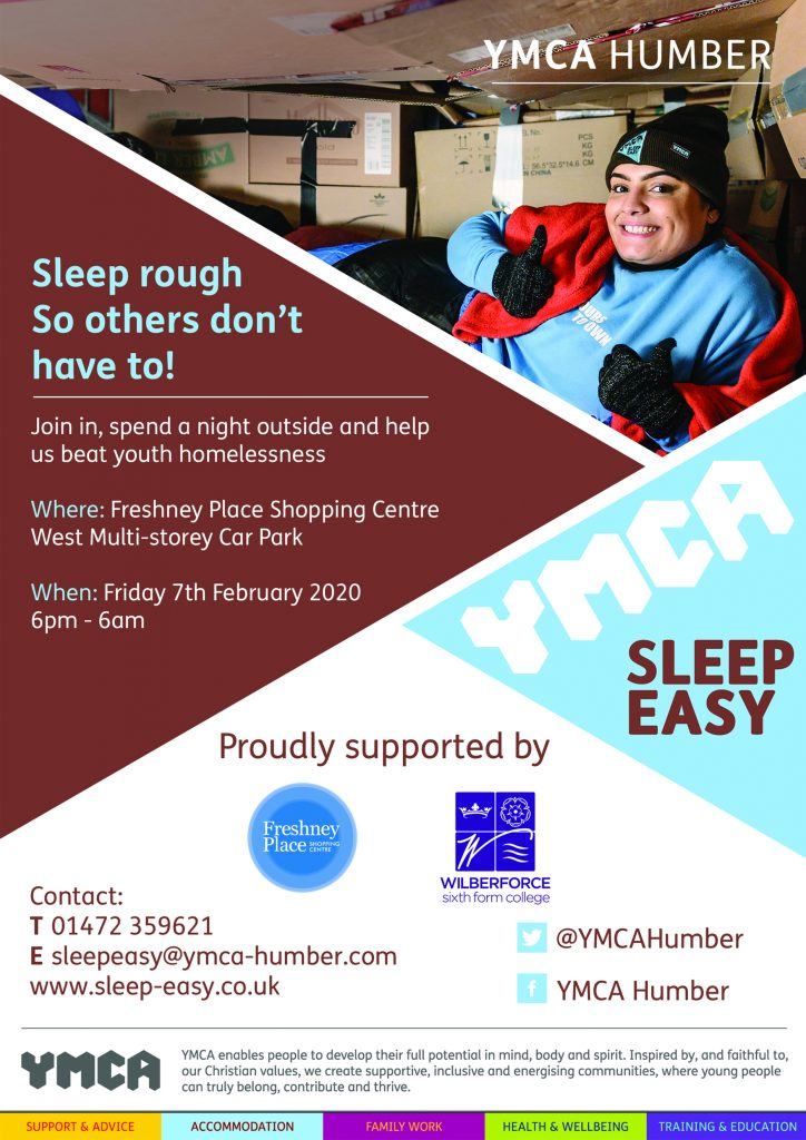 YMCA Sleep Easy event 2020 @ Grimsby or Hull